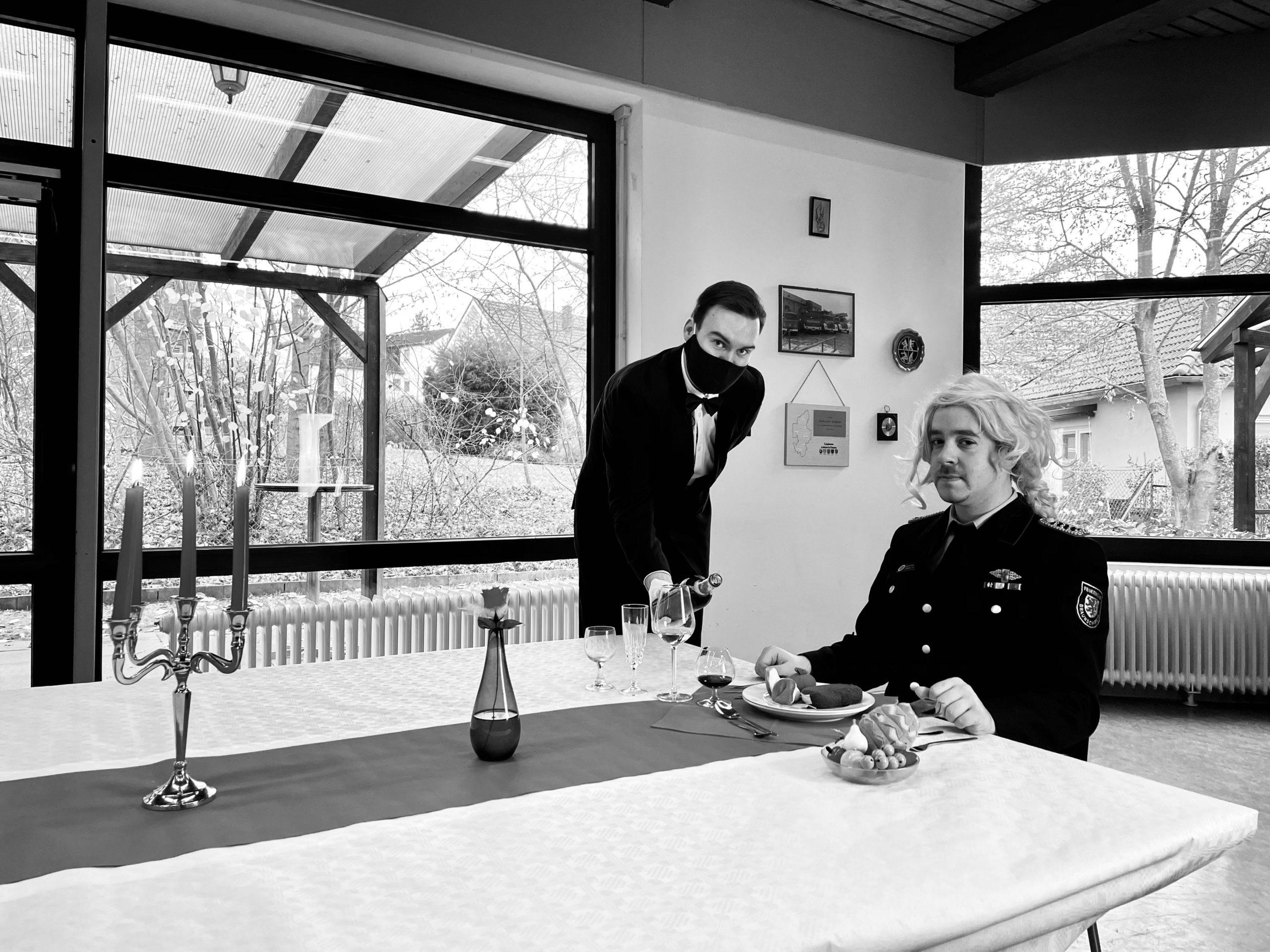 """""""Dinner for One"""" im Feuerwehrstil"""