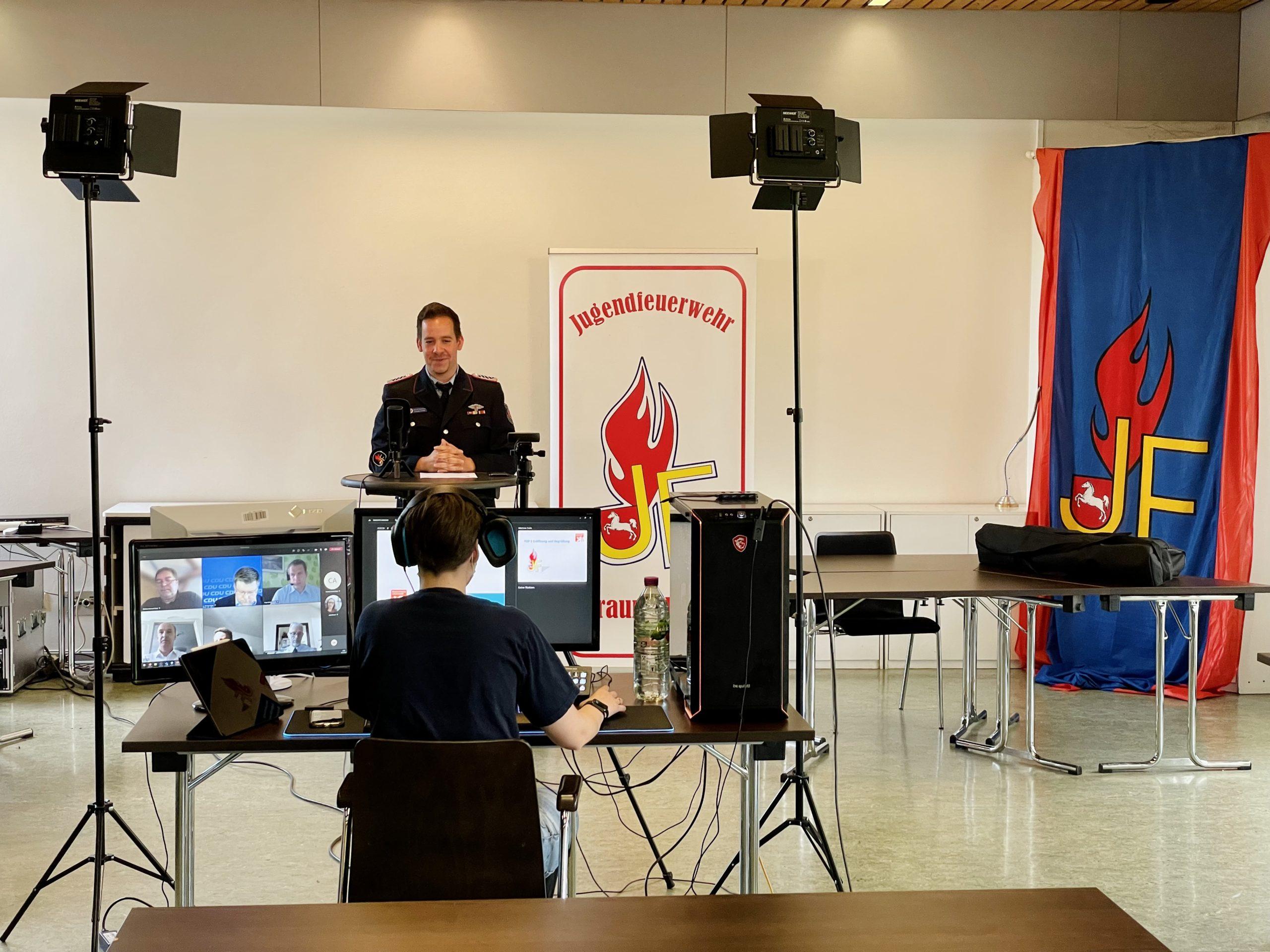 Leben in der Lage! – Jugendfeuerwehr Braunschweig streamt Delegiertenversammlung über YouTube